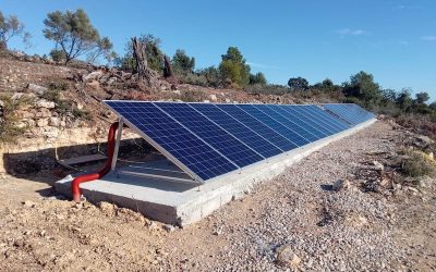 Off grid power supply home installation with solar panels